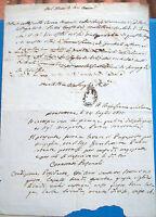 1831 DOCUMENTO DA MONTOTTONE (FERMO) SU FAMA E QUALITA' MORALI PER UN PASSAPORTO