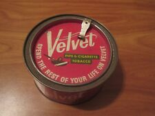 1926 Vintage Velvet Pipe & Cigarette Tabacco Can Canister With 1926 Tax Stamp