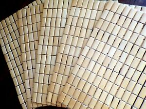 "Set of 5 - Bamboo Rectangular Block Placemats 12.75"" x 18.2"""