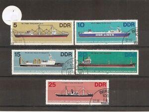 Germany (East) 1982 SG E2417-21 5v of set NH/CTO Ocean Going Ships