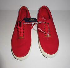 NEW Polo Ralph Lauren Men's Thorton II Sneaker Cotton/Mesh Red Size 9.5 D (M)