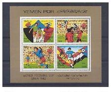 YÉMEN SUD 1982 Vainqueurs de la Coupe du monde de football Espagne 82 Surcharge