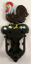 Painted Rooster Cast Iron Door Knocker Home Decor Design
