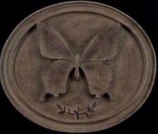 Gisela Graham Vintage Brown Butterfly Botanical 3D Hanging Oval Plaque