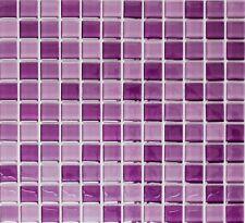 Glasmosaik lila mix Küche Wand WC Dusche Bad Pool Art:WB72-1104| 1 Matte