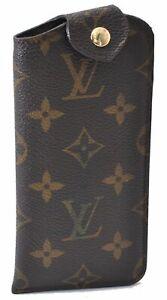 Authentic Louis Vuitton Monogram Etui Lunettes PM Glasses Case M66545 LV D0653