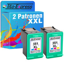 """2x Druckerpatrone """"EcoSerie"""" für HP 351 XL Photosmart"""