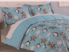 Living Quarters Twin XL Down Alternative Comforter - Penguins Skating Friends