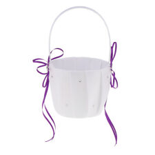 Wedding Ribbon Flower Girl Basket Ring Pillow Guest Book Pen Garter