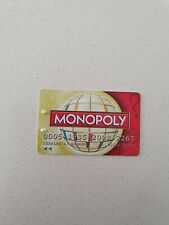 MONOPOLY Here Now The World Edition - Replacement BANK CARD (Red)