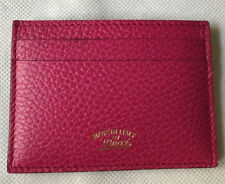 NWT $210+Gucci 368876CAO0G Pebbled Leather Card Case, Color Blossom W/G. Receipt