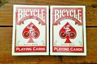 2 DECKS Bicycle Cupid Back Red playing cards deck 1 Pair Made in USA NEW SEALED