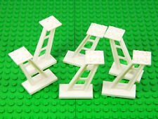 LEGO White Support 2 x 4 x 5 Stanchion Inclined [PACK OF 6] train track castle +