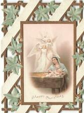 Victorian NATIVITY SCENE  Religious Themed Die Cut Christmas Greeting Card