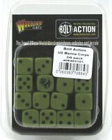 Bolt Action 408403101 US Marine Corps D6 Pack (16 Dice) Green & Black WWII NIB