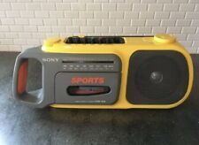 Vintage Sony CFM-104 SPORTS Cassette Player Tape Recorder AM/FM BOOMBOX Tested!!