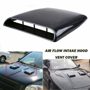 Auto Decorative Air Flow Intake Hood Scoop Vent Bonnet ABS Engine Cover Sticker