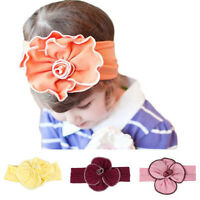 Lovely Unusal Cotton Girls Baby Cute Flower Headband Hairband Headwear Elastic