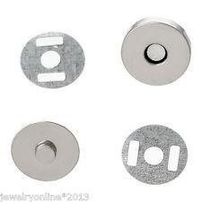 10Set Silberfarbe Verschluss Magnetverschluss für Handtasche 14mmD.