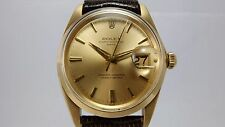 ROLEX VINTAGE 18K GOLD OYSTER PERPETUAL DATE WATCH, 1500