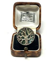 Great Vintage Sterling Silver 925 Mother of Pearl Statement Ring Size P #1206