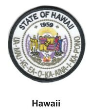"""HAWAII STATE SEAL EMBROIDERED PATCH 3""""  -  NEW"""