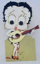 Betty Boop Mechanical Cardboard Clicker Toy Plays Mandolin Spain 1930s