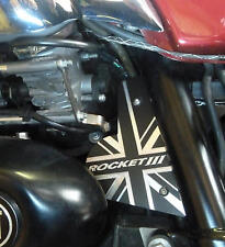 Triumph Rocket III Classic Roadster Touring side panel cover plate Aluminium