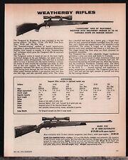 1978 WEATHERBY Vanguard & Mark XXII Rifle AD