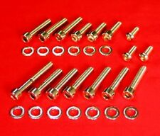 HARLEY 1983-2006 CV CARB POLISHED SCREW KIT EVO SPORTSTER BIG TWIN DUAL CAM
