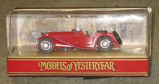MATCHBOX YESTERYEAR Y1-G 1936 JAGUAR SS 100 RED IN ORIGINAL BOX MIB