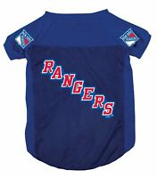 NEW NY YORK RANGERS PET DOG MESH HOCKEY JERSEY ALL SIZES LICENSED