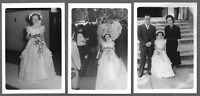Lot of 3 Vintage 1950s Photos Snapshots CUTE YOUNG FLOWER GIRL AT WEDDING