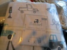Pottery Barn Kids Things that go twin organic flannel sheet set  New