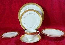 Gorgeous! Wedgwood ASCOT 6 Piece Setting Dinner Salad Bowl Bread Cup Saucer Set