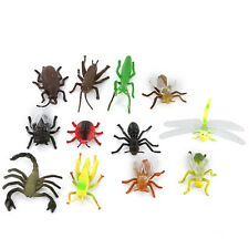12×Plastic Insect Toys 3-5cm Long Flying Bug Spider Wasp Ladybird Ant Mold Toys#