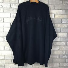 Vtg 90s PLATINUM FUBU Sweater Long Sleeve Men's XXXL Spellout Script Bold Ribbed