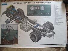 Lot 20 pcs MILITARY TRUCK  ZIL 130  BIG  Poster Soviet USSR FULL ultra RARE !!