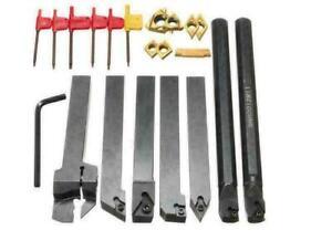 7PZ 12mm Utensili per tornio con inserti in metallo duro Tornitura Portautensili
