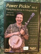 Power Pickin' Volume 3, Bluegrass Banjo Instruction Dvd - Bill Evans