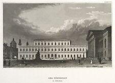 Munich-Max-Joseph-place avec Königsbau-Meyer-Acier Pli 1837
