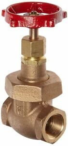 Milwaukee 1141 Series Bronze Gate Valve Class 150, Non-Rising Stem, 1/4' NPT Fem