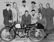 Montesa 125cc Grand Prix & Montesa Isle of Man TT racing team - 1951 - photo