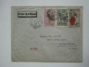 1940 MADAGASCAR COVER to SWITZERLAND