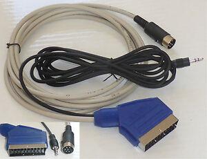 Schneider / Amstrad CPC 464 / 6128 Kabel RGB & Audio,  2 Meter.