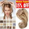 Ombre Mono Silk Base Clip Women Topper Hairpiece 100% Remy Human Hair Toupee Wig