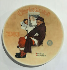 Norman Rockwell 1983 Limited Edition Santa In The Subway Graphic Christmas Plate