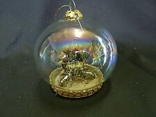 Clear Glass Christmas Ornament With Silver Nativity Inside