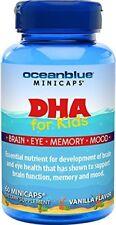 Ocean Blue DHA for Kids - Mercury Free - Vanilla Flavor - 60 Minicaps