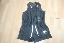 NWT WOMENS NIKE SZ M ROMPER DARK GREY